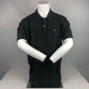 Vineyard Vines Gray & White Button Up Polo T Shirt